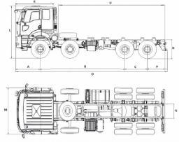 Самосвал Ford 3236CD LR