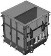 Металлоформа для отливки утяжелителя бетонного УБО-1220
