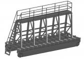 Тележка рельсовая с пирамидой для панелей