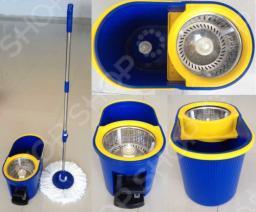 Комплект для уборки полов: швабра, ведро с отжимом QYMOP-02 Spin Mop
