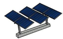 Трекер для солнечных модулей 185 Вт