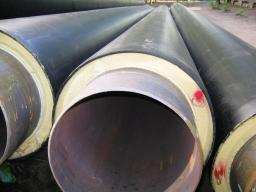Труба стальная в полиэтиленовой оболочке ТГИ ППУ-ПЭ 1020x11/1200