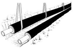 Труба Д=57 мм оцинкованная в ППУ изоляции