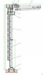 Бетонораспределительная стрела гидравлическая DEBOOM DBAG28