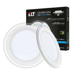 Светильник встраиваемый светодиодный LDLR10-D30-24-4000-White, 24 Вт, 220 В, 4000 К ELT