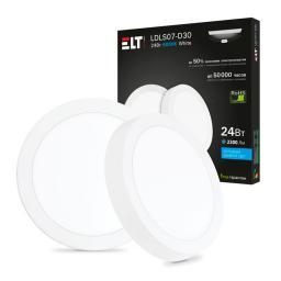 Светильник накладной светодиодный LDLS07-D30-24-4000-White, 24 Вт, 220 В, 4000 К ELT