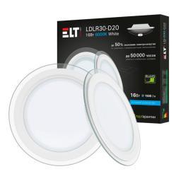 Светильник встраиваемый светодиодный LDLR30-D20-16-4000-White, 16 Вт, 220 В, 4000 К ELT