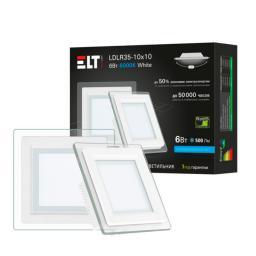 Светильник встраиваемый светодиодный LDLR35-10x10-6-4000-White, 6 Вт, 220 В, 4000 К ELT