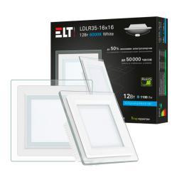 Светильник встраиваемый светодиодный LDLR35-16x16-12-4000-White, 12 Вт, 220 В, 4000 К ELT