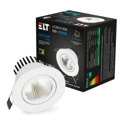 Светильник светодиодный LCOB10-D09-5-4200-White, 5 Вт, 220 В, 4200 К ELT