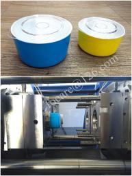 Пресс-форма для литья двухцветного контейнера с крышкой