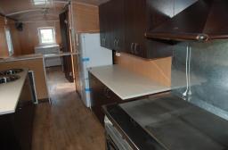 Вагон-дом столовая вагончик Торос 3.06 кухня со столовой на 12/20 человек на раме