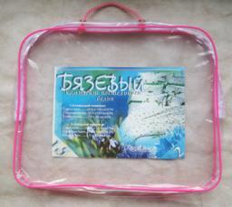 Упаковка на застежке «молния» (спанбонд+лицевая из пленки) 40 х 50 х 12 см