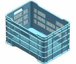 Ящик для овощей 45л (510*345*300 мм) сплошное дно АП 109