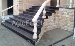 Каменная лестница, изготовление и монтаж