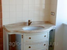 Каменная столешница для ванной