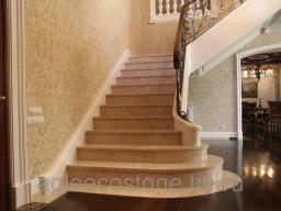 Облицовка лестниц мрамором