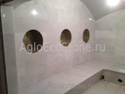 Строительство, облицовка турецких бань (хамам) и саун, мрамором