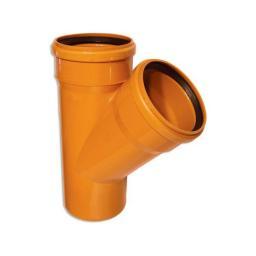 Тройник для наружной канализации ПВХ 45 гр
