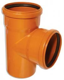 Тройник для наружной канализации ПВХ 87 гр