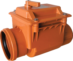 Обратный клапан ПВХ для наружной канализации