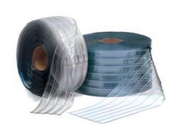 Завеса морозоустойчивая прозрачная рифленая 2х200 полосовая