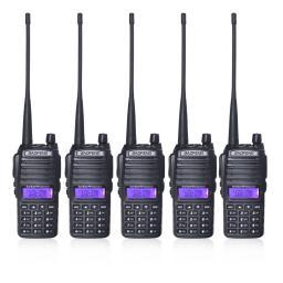 5 шт./лот BaoFeng уф-82 двухдиапазонный увч / укв 136 - 174/400 - 520 мГц FM ветчиной пути радиоприемопередатчиком портативной рации с аккумулятор антенна