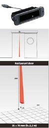 Радарный датчик 1Safe для автоматических межкомнатных дверей ресторанов, яхт...