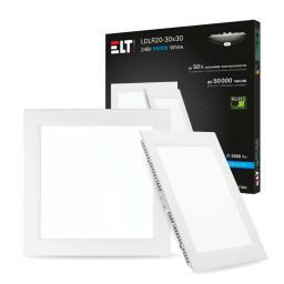 Светильник встраиваемый светодиодный LDLR20-30x30-24-4000-White, 24 Вт, 220 В, 4000 К ELT