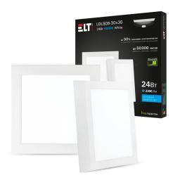 Светильник накладной светодиодный LDLS08-30x30-24-4000-White, 24 Вт, 220 В, 4000 К ELT