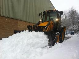 Очистка от снега.