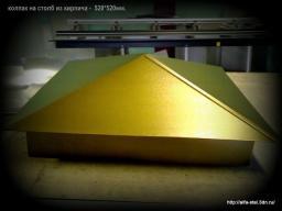 Колпак на столб забора из кирпича размер-520*520мм