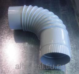 Отвод 90 градусов Д100мм цвет белый