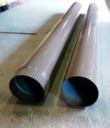 Водосточная труба Д100*1250мм цвет 8025