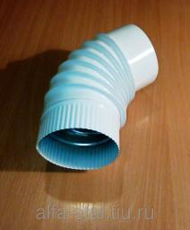 Отвод 45 градусов Д100мм цвет белый