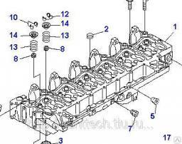 ГБЦ для экскаваторов Komatsu, двигатель SAA6D102E