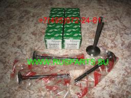 Клапаны впускные, клапаны выпускные двигателя Yanmar 4TNE98