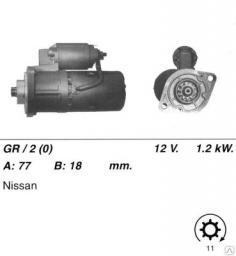 Стартер двигателей 4G52, 4G54 для погрузчиков Mitsubishi