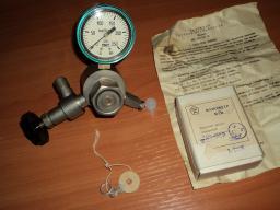 Редуктор газовый медицинский с запорным вентилем