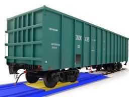 Вагонные весы для потележечного взвешивания в движении всех типов вагонов, в статике только 4-осных вагонов (бесфундаментные)