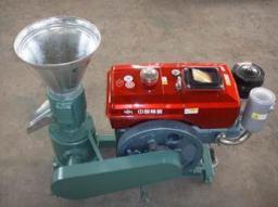 Гранулятор ZLSP120A (40-80 кг/ч), дизельный двигатель для пеллет