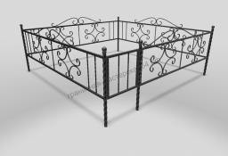 Кованая ограда на могилу ОМК 008