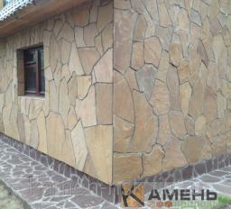 Камень песчаник для облицовки фундамента