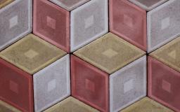 Продажа тротуарной(бетонной) плитки Ромб 310х190х45 по низким ценам для мощения территорий
