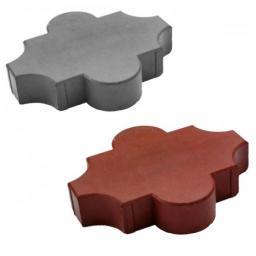 Тротуарная(бетонная)вибролитая плитка Клевер Гладкая 267х218х45 от производителя с доставкой в Москву и Московскую область