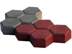 Вибролитая тротуарная плитка Соты 260х180х45мм по самым низким ценам, с доставкой в Москве и Московской области