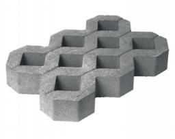 Цена тротуарной вибропрессованной плитки (брусчатки) газонная решетка 500х330х60 мм от производителя с доставкой по Москве и Подмосковье