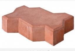 Тротуарная вибролитая плитка Волна (Красная) 237х103х60 от производителя с доставкой по Москве и Московской области