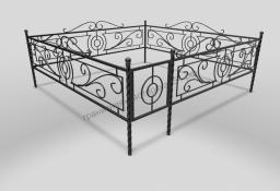 Кованые и металлические оградки