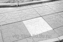 Плитка дорожно тротуарная ТУЧКА 300х300х30 (черная)